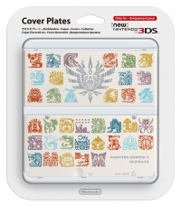 New 3DS Cover Plate - Monster Hunter 4 (White)