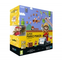 Wii U Premium Pack Black+Super Mario Maker+amiibo