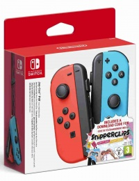 Joy-Con Pair Neon Red/Blue - Snipperclips Bundle