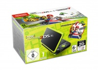 New Nintendo 2DS XL Black&Lime Green+MK7 pre-inst