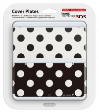 New 3DS Cover Plate 15 (Black/White Dots)