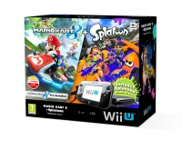 Wii U Premium Pack Black + MK 8 + Splatoon (DLC)