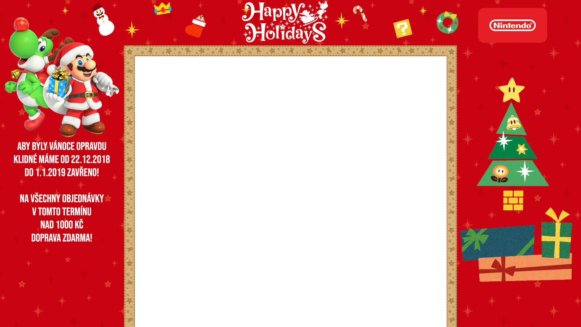 Vánoce s nintendoshop