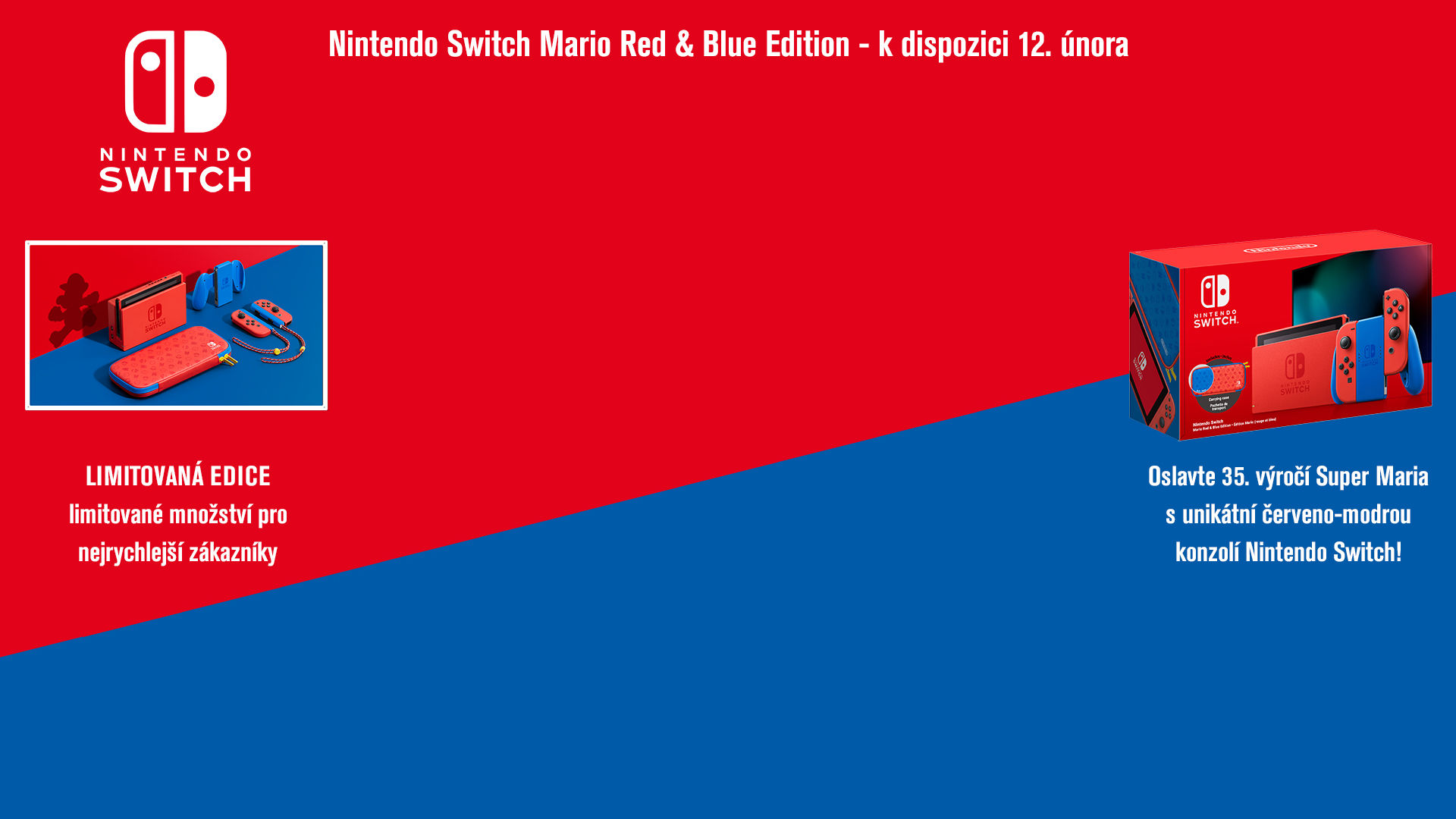 NINTENDOSHOP Nintendo Switch Mario Red & Blue Edition