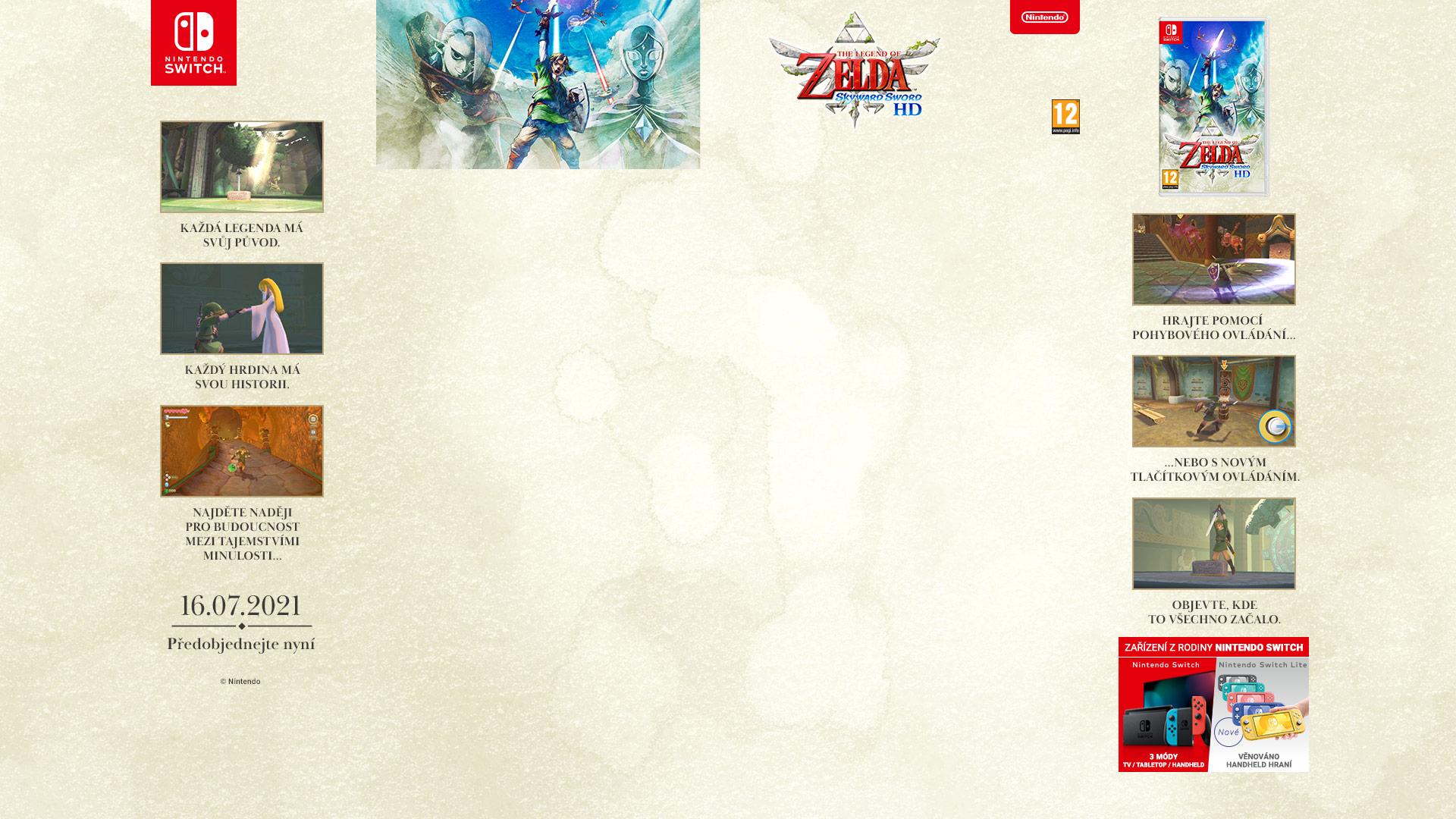 NINTENDOSHOP SWITCH The Legend of Zelda: Skyward Sword HD